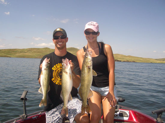 Major league adventures guided walleye fishing and for South dakota fishing